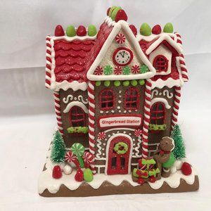 "Choice of Illuminated 9"" Gingerbread Cottages"